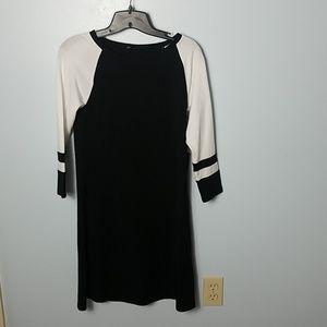 Express black and white tee shirt dress